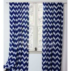 ICHCHA Chevron Block-Print Curtain (72 CAD) ❤ liked on Polyvore featuring home, home decor, window treatments, curtains, chevron home decor, zigzag curtains, rod pocket curtains, cotton curtains and cotton fabric panels