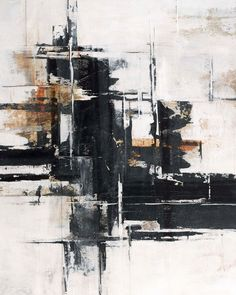 Abstract contemporary painting with black horizontal strokes on white and brown. Ever Hidden Wall Art by Sydney Edmunds from Great BIG Canvas. Painting Frames, Painting Prints, Art Paintings, Portrait Paintings, Acrylic Paintings, Industrial Paintings, Big Wall Art, Canvas Art Prints, Big Canvas