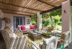 Cornerway House is situated in a residential area which is only a seven-minute walk from the famous white sands of Robberg Beac Backyard, Patio, House Rooms, Homemaking, Pergola, Relax, Outdoor Structures, Outdoor Decor, Inspiration