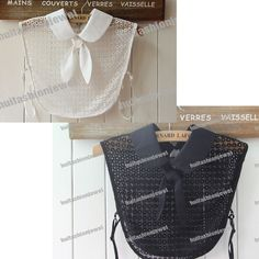 Bowknot Lace Fake Lapel Shirt Blouse Detachable choker Removable PeterPan Collar #Unbranded #Blouse #Career