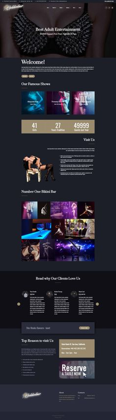 Goldenbar A New WordPress Theme For Bikini Bars And Other Related Erotic Websites Http