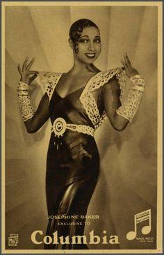 Josephine Baker Columbia card