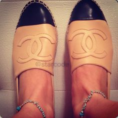 Chanel leather espdrilles