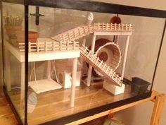 Hamster Cage - DIY aquarium conversion                                                                                                                                                                                 More