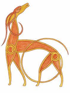 Celtic Anglo Saxon Greyhound Hound Lurcher Dog by rachsymonds