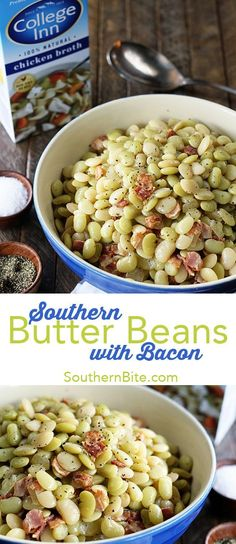This classic Southern Recipe for Butter Beans with Bacon is a generations old recipe that's the perfect complement to nearly any meal!