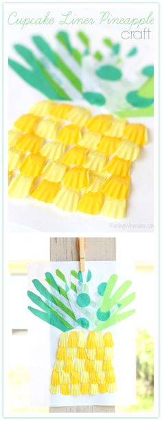 Cupcake Liner Pineapple Craft