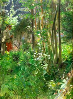 Sun in the Woods - Anders Zorn