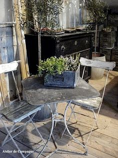French bistro table and chairs