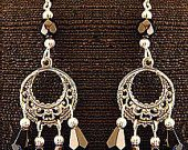 YOU choose COLOR custom made medieval renaissance handmade Victorian EARRINGS - pinned by pin4etsy.com