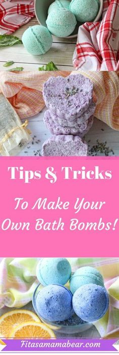 Diy bath bombs are an easy, thoughtful gift! Homemade, natural, pampering, spa, bath bombs