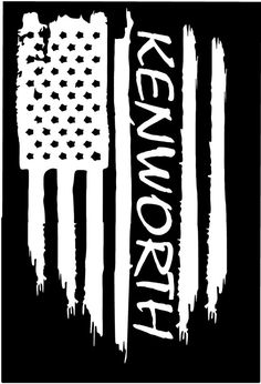 American flag Kenworth big rig 18 wheeler tractor trailer vinyl die cut sticker decal Pledge of Allegiance distressed weathered