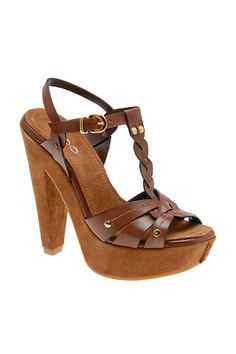 Caramel Brown clogs would look best in Boho theme Boho Theme, Caramel Brown, Aldo, Clogs, Style Me, Wedges, Heels, Leather, Wedge