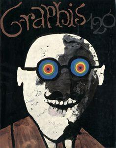 Tomi Ungerer, cover illustration for Graphis, 1965