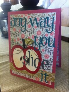 """Inside the card says """"Your birthday is sure to be sweet!"""". So cute!"""