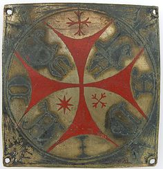 Plaque 12th–13th century German Champlevé enamel, copper Overall: 2 5/8 x 2 1/2 x 1/16 in. (6.7 x 6.4 x 0.2 cm) Enamels Gift of J. Pierpont Morgan, 1917 Accession Number:17.190.423 Metropolitan Museum of Art