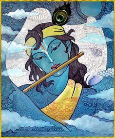 krishnaart: SHRI KRISHNA Artist: Rajesh Ponayanhttp://careforcows.org/