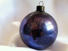 Vintage Deep Purple USA Christmas Ornament by bythewayside on Etsy, $3.50