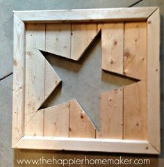 DIY - Pottery Barn Star Tutorial. Use white or colored canvas to staple to back for star color!