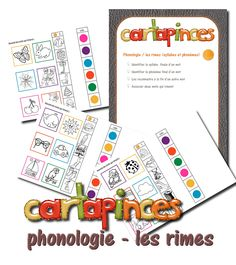 La maternelle de Laurène: Cartapinces - phonologie Grande Section, Phonological Awareness, Busy Bags, Letters And Numbers, Phonics, Montessori, Kids Learning, Literacy, Activities For Kids