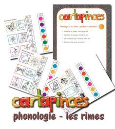 La maternelle de Laurène: Cartapinces - phonologie