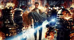 Doctor, Daleks, and Amy — from the new Doctor Who season