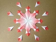 簡単折り紙★ 花火の折り方 ★夏祭りの飾りに Origami Fireworks - YouTube