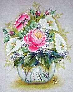 Pintura em Tecido Passo a Passo: Pintura em Tecido Flores e ...