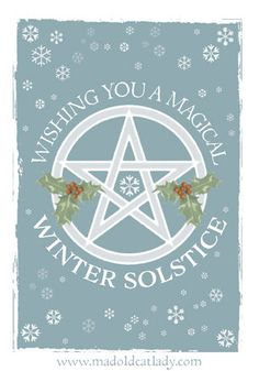 Winter Solstice greetings card by MADOLDCATLADY on Etsy