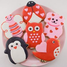 Ok not technically cake, but still in the same family of awesome. Valentine Animal Cookies
