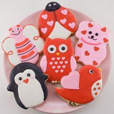 Valentine Animal Cookies