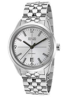 69% Off Bulova Accu-Swiss Men's Murren Automatic Stainless Steel Silver-Tone Dial Watch