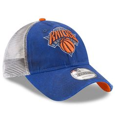 pretty nice ee68d b7dfa Men s New York Knicks New Era Royal White Team Rustic 9TWENTY Adjustable Snapback  Hat -