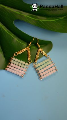 Handmade Jewelry Bracelets, Handmade Jewelry Designs, Jewelry Crafts, Jade Jewelry, Earrings Handmade, Jewelry Ideas, Diy Earrings Easy, Diy Bracelets Easy, Diy Schmuck