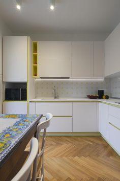 ristrutturazione-cucina-su-misura-FLV - thecaterpilar   studio di architettura Kitchen Cabinets, Decor, Furniture, Table, Kitchen, Home, Cabinet, Home Decor