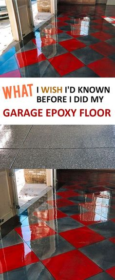 I Wish I'd Known Before I Did My Garage Epoxy Floor – Page 6 of 6 – Tips and tricks when using epoxy on your garage floor.Tips and tricks when using epoxy on your garage floor. Garage Makeover, Home Improvement Projects, Home Projects, Home Improvement, Garage Decor, Best Garage Floor Epoxy, Garage House, Flooring, Home Diy