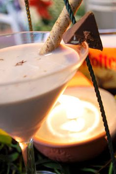 Harry Potter  Ingredient:  ½ oz Brandy  ½ oz Kahlua  ¼ oz Butterscotch Schnapps  ½ oz Half and Half Cream  Garnish wafer stick  Directions:  Fill martini glass with cold water and place in freezer for 2 minutes to chill.  Combine ingredients into shaker.  Shake.  Pour into glass.  Garnish with wafer stick.