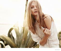Anna Selezneva + Esther Heesch Model Dreamy Fashions for Oui S/S 2015