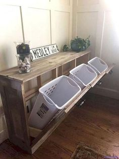 The 11 Best Laundry Room Organization Ideas is part of Laundry room design - Make your laundry room more functional and pleasing to the eye with these 11 Best Laundry Room Organization Ideas that we are crushing on Laundry Sorter, Laundry Room Organization, Laundry Room Design, Diy Organization, Laundry Rack, Laundry Baskets, Laundry Storage, Hidden Storage, Laundry Closet