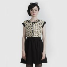 Camille Dress - Yellow/Black