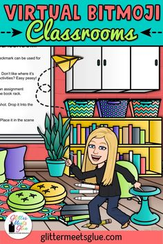 Have you bit the virtual Bitmoji classroom craze? Pop on over to learn some tips & tricks on how to get started, find inspiration on making your own, too! Online Classroom, Art Classroom, School Classroom, Classroom Activities, Classroom Organization, Classroom Management, Classroom Ideas, Flipped Classroom, Behavior Management