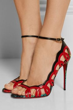 Christian Louboutin | Houla Hot 100 printed leather sandals | NET-A-PORTER.COM