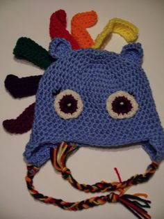 Rainbow Dash Child Hat by SweetBabyJamesStitch on Etsy, $20.00
