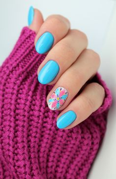 #nail #nails #babyblue #reserved #mozaika #gelpolish #bluenails #paznokcie #design #manicure