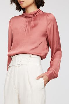 The Ensley is a beautifully crafted wardrobe must-have this season! A blend of recycled polyester and polyester satin, this showstopping pieces is equal parts luxe as it is consciously cool. Featuring a tie neck detail with subtle gathering around the sleeves and a curved hem, pair the Ensley with your favourite wide leg pants and heels for an elevated look. Recycled polyester blend High neck Neck tie Gathering Curved hem Material: 67% Recycled Poly 33% Polyester Tie Neck Blouse, Polyester Satin, Wide Leg Pants, Work Wear, Topshop, Mini Skirts, Detail, Spring, Heels