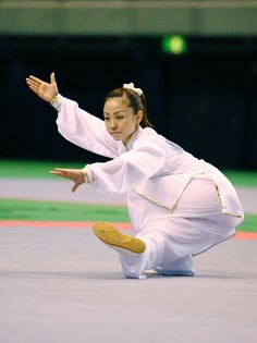 tai chi - in this position and totally at peace - amazing argument FOR the practice