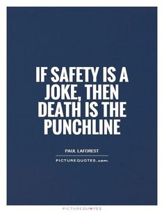 Let's take things seriously, especially when it comes to safety procedures. #SafetyFirst