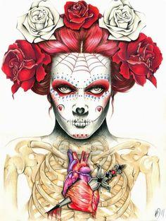 calaveras de azúcar (sugar skulls) (day of the dead ) #art