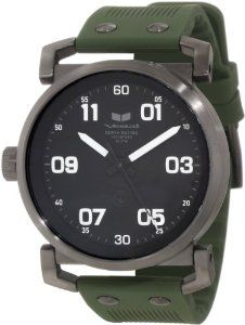 Vestal Men's OB3S003 USS Observer Gunmetal with Army Silicone Watch Vestal. Made in Japan. Water resistance: 10 atm / 100 meters