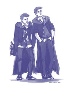 Weasley twins By Viria. THIS is what I imagine Fred and George were like.